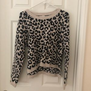 Adorable leopard print sweater